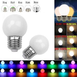Dimmable LED Globe Bulb E26 E27 B15 B22 E14 E12 3W 110-220V Color Change Lamp LM