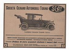 Pubblicità epoca 1916 AUTO SCAT LANDAULET LIMOUSINE CAR advert werbung publicitè
