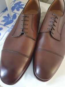 Alfred Sargent Brown CAP Oxford shoes Size 9.5 RRP £475 MADE IN ENGLAND