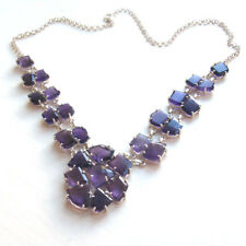 Multi-Stone, Faceted, Amethyst and Sterling Silver Necklace