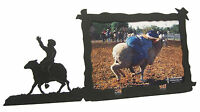 """Sheep Riding Rodeo Picture Frame 5""""x7"""" H Mutton Busting"""