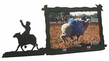 "Sheep Riding Rodeo Picture Frame 5""x7"" H Mutton Busting"