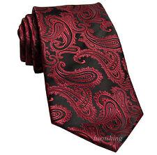 New Brand Q Men's Micro Fiber Paisley Neck Tie necktie only WINE Prom wedding