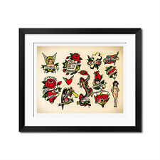 Sailor Jerry Classic Old School Vintage Tattoo Flash Poster Print 0479
