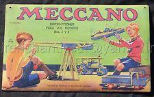 Rare ancienne plaque publicitaire magasin JOUET MECCANO Juguetaria publicidad ++