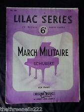ORIGINAL SHEET MUSIC - LILAC SERIES - MARCH MILITAIRE