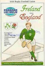 More details for ireland v england 1985 rugby programme irish triple crown season very good cond