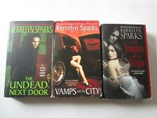 KERRELYN SPARKS LOT OF 3 PAPERBACKS Vampire and the Virgin Vamps City Undead