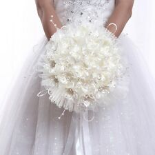 Newly Bride Beige Bouquet Wedding Holding Flowers Brooch Simulation Lace Posy