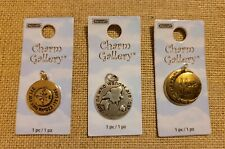 Halcraft Charm Gallery 3 Charms, Gold & Silver Not All Who Wonder Are Lost, Gold