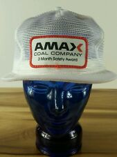 Vintage Amax Coal Company hat snapback cap Mesh Trucker Construction Work