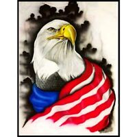 5D Full Drill DIY Diamond Painting Flag Eagle Embroidery Cross Stitch Kits Art