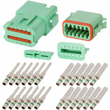 Deutsch DT 12 Pin Green Connector Kit w/ 14 AWG Solid Contacts