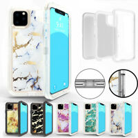 For Apple iPhone 11/11 Pro Max Marble Defender Case fits with Otterbox Belt Clip