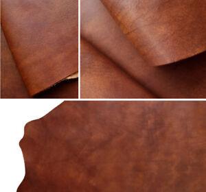 Vintage Distressed Hide, Veg Tanned Full Grain Leather 1.4 - 1.6 mm (3oz - 4oz)
