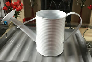 white metal watering Can Orniment