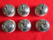 Vintage chrome / ceramic toggle light switches . Set of 6 . (A1)