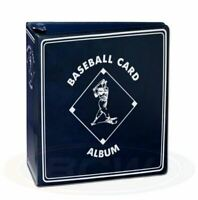 """New Lot of 4, 3"""" BCW Blue Heavy Duty D Ring Baseball Card Binder Albums"""