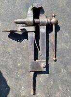 "Vintage 6"" Iron City Blacksmith Post Leg Vise"
