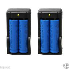 4PC 6000mAh BRC 3.7v 18650 Rechargeable Li-ion Battery+2XSmart Charger