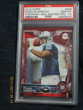 MARCUS MARIOTA 2015 TOPPS THROWING 60TH ANNIV RED FOIL RC #429 PSA 10 -33/60 !!