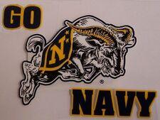 Window Bumper Sticker Military Navy Go Naval Academy Ram NEW Decal