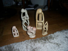 Abstract Figure Sculpture Thinking Man +4 others