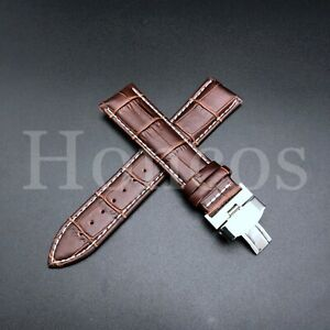 20MM LEATHER STRAP BAND FOR SEIKO ALPINIST SARB017 DEPLOYMENT CLASP L/BROWN WS