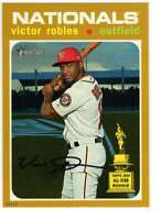 Victor Robles 2020 Topps Heritage 5x7 Gold #497 /10 Nationals