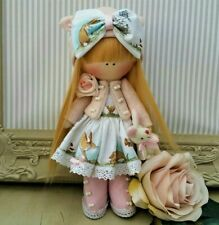 Rag doll handmade in UK Tilda doll Ooak doll Easter bunny BELLA 8 inch tall