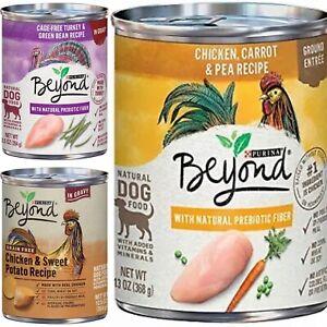 Purina Beyond Grain Free Natural Prebiotic Fiber Dog Food 4 Cans
