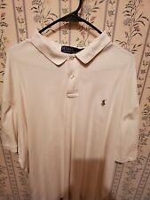 Polo ralph lauren Creme Color Mens Shirt xxl