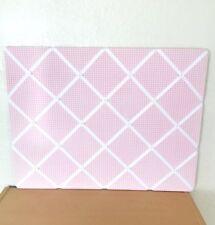 "Pottery Barn Kids Pink Gingham Ribbon Pinboard 18"" x 24"""