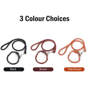 Dog Cat Collar Leash Adjustable PU leather Pet Collar Lead for Outdoor Walking