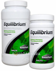 SEACHEM EQUILIBRIUM MINERAL BALANCE GH NO SODIUM CHLORIDE AQUARIUM FISH TANK