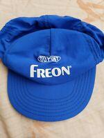 Vintage DuPont Freon Blue Adjustable Nylon Trucker Hat MADE IN USA