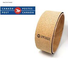 Yoga Wheel by Reach Fitness – 12.5-inch Cork Yoga Exercise Wheel
