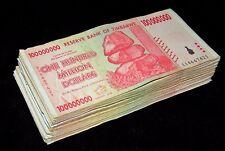 100 x Zimbabwe 100 Million Dollar banknotes-2008/AA-currency bundle