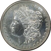 1896, $1, Morgan Silver Dollar - Old Cleaning, Uncirculated - Collectors Coin