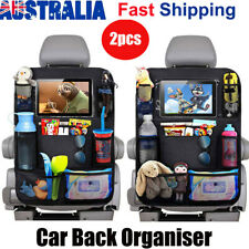 2PCS Car Back Seat Organiser Travel Storage Bag Organizer iPad Pocket Holder AU