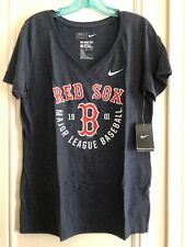 NWT Womens Nike Mid V-Neck Boston Red Sox T-Shirt Size Large Baseball