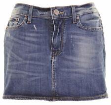 ADIDAS Womens Mini Denim Skirt W28 L11 Blue Cotton  JR15