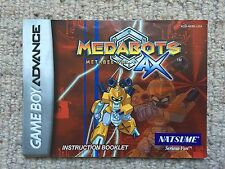 Medabots Metabee Ver. AX - Game Boy Advance GBA Instruction Manual Only