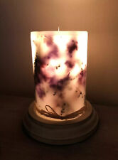 """Hand Crafted Flickering Flameless Wax Pillar LED Candle Light 6"""" Tall X 3 3/4"""""""