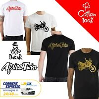 T-Shirt Honda Africa Twin 1996-2002 uomo Maglia moto nera cotone 100% maglietta