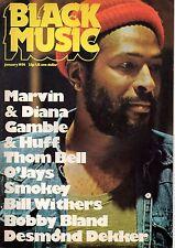 Marvin Gaye on Black Music Mag Cover January 1974   Eddie Kendricks  The O'Jays
