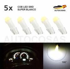 5 x Bombilla T5 2 LED SMD T5 58 73 74 286 Dashboard Coche 3D Super Blanco 12V