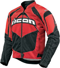 ICON Contra Textile Motorcycle Jacket (Red) L (Large)