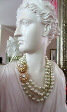 Kenneth Jay Lane Jewelry Barbara Bush Simulate Pearl Necklace w/Pearl Clasp