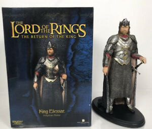 SIDESHOW WETA LORD OF THE RINGS LOTR KING ELESSAR POLYSTONE STATUE #d/3000 MINT+